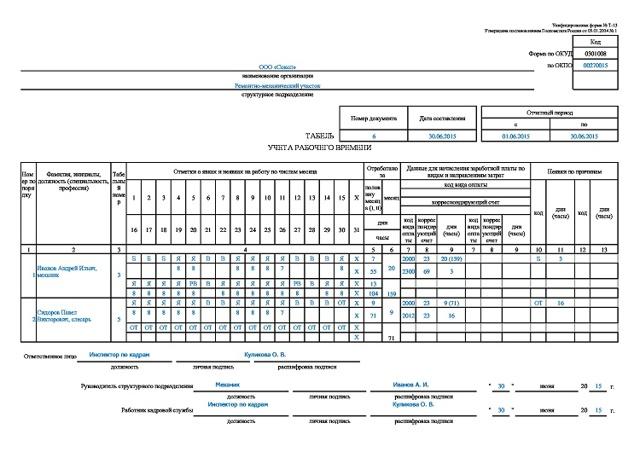 Гибкий график работы в трудовом договоре - образец