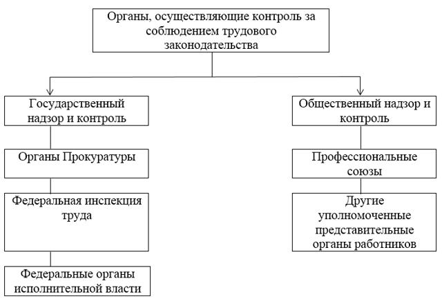 Государственный надзор и контроль за соблюдением трудового законодательства